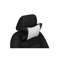 Подушка из Экокожи Ромб автомобильная под шею в Краснодаре